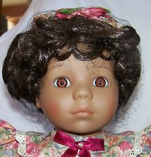 """""""CASSANDRA"""" African American Bisque Doll 19"""" by Victoria Ashlea LE 407/1000 NIB"""