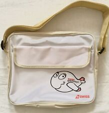 Swiss Air Airlines Travel Kids Shoulder Bag Airlines Beige White