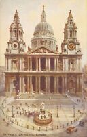 "England London St. Paul's Cathedral (Valentine's ""Art Colour"" Series, A46) 1930s"