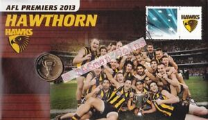 PNC Australia 2013 Hawthorn Hawks AFL Premiers RAM $1 Commemorative Coin