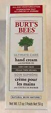NEW SEALED Burt's Bees Ultimate Care w/ Baobab Oil Hand Cream, Dry Skin (1.7 oz)