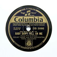 """COUNT BASIE & HIS ORCHESTRA """"Baby Don't Tell On Me"""" (EE+) COLUMBIA DB-5066 [78]"""
