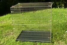 """HEAVY DUTY 42"""" EXTRA TALL METAL PET CAGE CARRIER DOG  FOLDING  CRATE TRAVEL"""