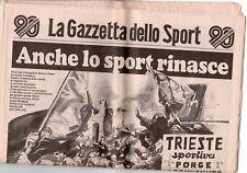 rivista LA GAZZETTA DELLO SPORT 03/04/1986 numero ANCHE LO SPORT RINASCE