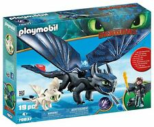 Playmobil 70037 DreamWorks Hiccup and Toothless with Baby Dragon, Various