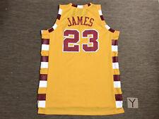 NBA REEBOK CLEVELAND CAVALIERS LEBRON JAMES 23 JERSEY YELLOW XL Basketball Hoops