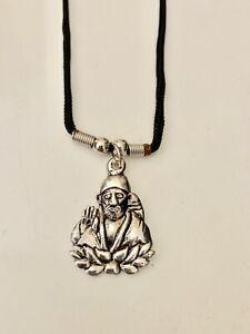 Om Aum Shirdi Sai Baba Shrada Hindu God Pendant Yoga Meditation Thread Necklace