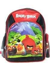 "Rovio Angry Birds Family Cargo Boys & Girls 12"" Canvas Black School Backpack"