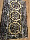 Vintage Tapestry Flat Weave Rug Wall Hanging 5'x7 Bohemian