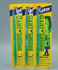 Vintage Fisher Giant Greenie Pens Rare Made in  USA- New Sealed lot of 3