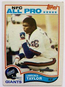 1982 Topps LAWRENCE TAYLOR RC #434, Giants HOF    EX Condition