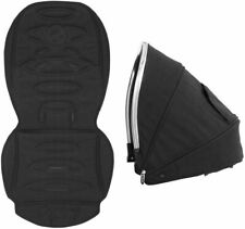 *New* Babystyle Oyster MAX 2 Tandem Lie Flat Colour pack hood and seat pad BLACK