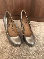 NEW KILLER HEELS size 5 silver PLATFORM STRIPPER essex glam shoes silver