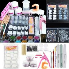 Professional Nail Art Acrylic Powder   Primer Tips Practice Tool Kits -US Sale