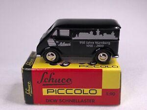 Schuco Piccolo (Germany) Black DKW Schnellaster Diecast 1:90 NIB