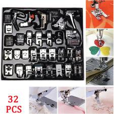 Juego de pies de prensatelas para máquina de coser doméstica de 32 piezas