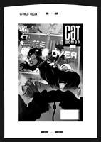 DC Comics CATWOMAN #47 Rare Production Art Cover by Adam Hughes BATMAN GOTHAM