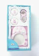 Baby Connection Ceramic 4 Pc Baby Girl Tooth, Curl, Frame & Shoe Gift Set - New