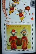 Chinese New Year of the Rat 2020 International Stamp Sheet Canada