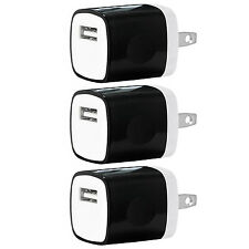 3x Pack 1A Universal USB Travel Wall Charger Power Adapter for iPhone 7 Android