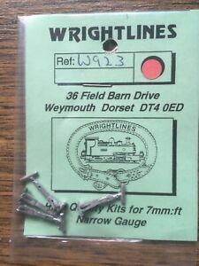 Wrightlines W923 0-16.5 7mm Narrow Gauge W.D.Coupling Heads