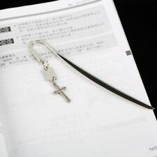 Cross Steel Bookmark Letter Opener Hair Stick 145mm Cute Cat Kitty 1PCS