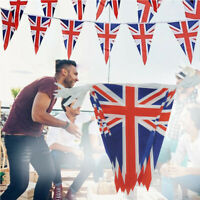British Union Jack Bunting Flag 10M with 30 Flags 14cm x 21cm Double Sided