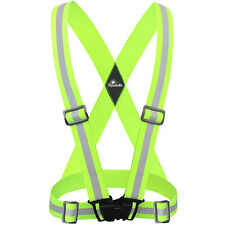 Reflective Strap Safety Vest Running Gear  for Running, walking, & Bike Cycling