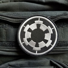 STAR WARS IMPERIAL GALACTIC EMPIRE TACTICAL MILITARY MORALE HOOK PATCH DARK