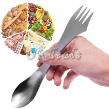 3 in 1 Stainless Steel Spork Spoon Fork Cutlery Utensil Combo For Picnic Gadget