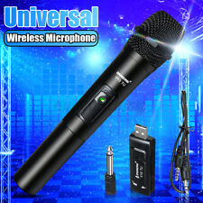 Professional VHF Wireless Microphone Handheld Mic System Karaoke With Receiver