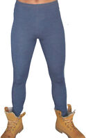 MENS TIGHT CLINGY DENIM LOOK ANIMAL SNAKE PRINT LEGGING MEGGINGS  PANTS XS - 3XL