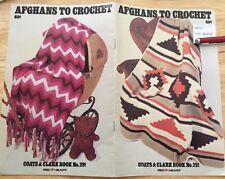 CROCHET pattern vintage AFGHANS blanket coats clark red heart granny ripple star