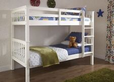 Classical Design Bunk Bed Duo & Trio White or Grey Solid Pine Durable and Sturdy