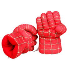 UK a Pair Lightning Spider Man Boxing Gloves Plush Fist Hand Kids Play Toy Chic