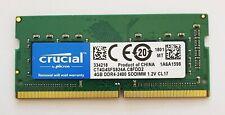 Crucial 4GB DDR4 2400MHz Laptop RAM ~ PC4 19200 2400T SODIMM Memory 260 iMac 5K