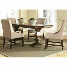 Liberty Furniture Armand 5 Piece Trestle Dining Set in Brownstone