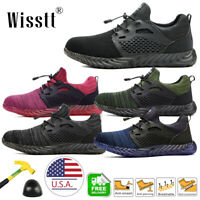 Womens Work Boots Steel Toe Safety Shoes Reflective Strips Sneakers US Size 5-13