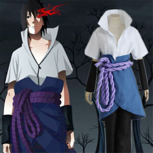 Anime Naruto Uchiha Sasuke 3th Cosplay Costume Halloween Anime S-2XL Suit