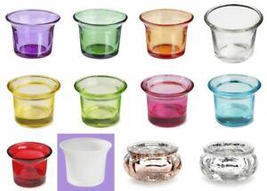 Teelichtglas  * Teelichthalter *  Auswahl aus verschiedenen Farben