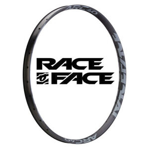 "Race Face Arc 40mm Rim Grey stickers 28H 27.5"""