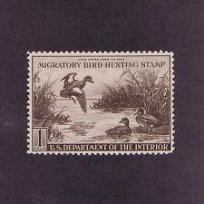 Sc# Rw7 Unused Og Mnh 1 Dollar Duck Stamp, 1940, F Vf 2017 Pf Cert