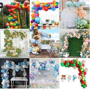 Balloon Garland Arch Kit Set Birthday Wedding DIY Party Decor Rainbow Balloons