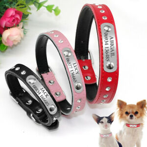Custom Dog Collar Pet Necklace Free Engraved Dog Name Owner Phone for Free