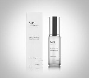 MD3 Vitamin C 25% Strong Face Serum L-Ascorbic Acid Anti Ageing Wrinkle Blemish