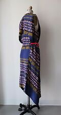 Marni Multi-Color Abstract Printed Uneven Hem Sleeveless Midi Dress Sz 46