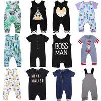 Newborn Infant Kids Baby Boy Girl Romper Bodysuit Jumpsuit Clothes Outfits