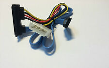 S-ATA Kabel 90° gewinkelt Kabel Slim SATA Buchse  2Pin Power 5V + SATA  ca. 55cm