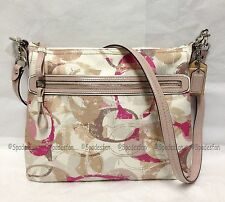 Coach 31143E Stamped C Hippie Shoulder Crossbody Bag NEUTRAL PINK MULTI NWT