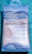 "Magic Cool Cooling Cloth 15"" X 25"" Wet It Wring It Wave It Khaki New Free Ship"